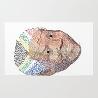 mandela Area & Throw Rugs featuring Nelson Mandela by Adrienne S. Price