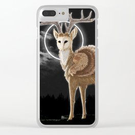 The night is calling Clear iPhone Case