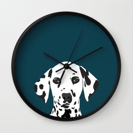 Ryan - Dalmatian art print phone case decor for pet lover and dog lover Wall Clock