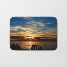 Peace and Relaxation at the Sea shore Bath Mat