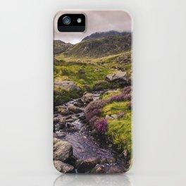 Cwm Idwal Snowdonia Eryri Walk Mountain Heather Wales iPhone Case