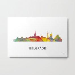 Belgrade Serbia skyline Metal Print