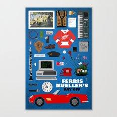 Ferris Bueller's Day Off - Minimalist Movie Poster - Digital Art 11x17 Print Canvas Print