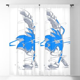 Blue Sonic  Blackout Curtain