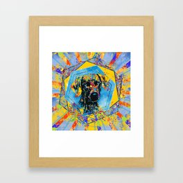 Weimaraner dog Abstract Mixed Media Framed Art Print