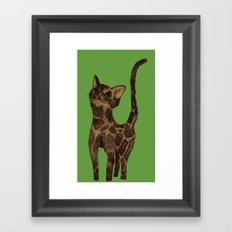 Giraffe Cat. Framed Art Print