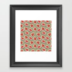 Figs Pattern Framed Art Print