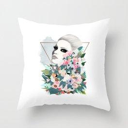 Flower Wall Throw Pillow