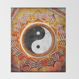 Yin Yang - Healing Of The Orange Chakra Throw Blanket