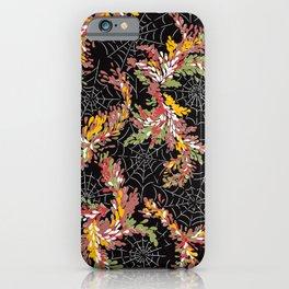 Garden Cobwebs in Autumn iPhone Case