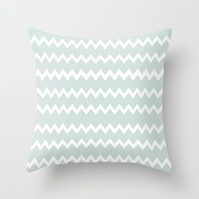 Wedgewood blue winter chevron design throw pillow by for Wedgewood designs