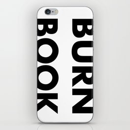 BURN BOOK iPhone Skin