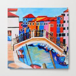 Colors of Venice Italy Metal Print