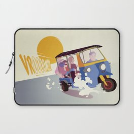 STAY AT HOME DAD - Family tuk-tuk trip Laptop Sleeve