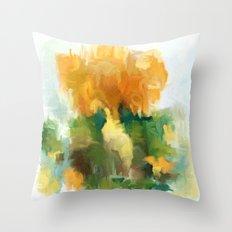 Golden bouquet Throw Pillow