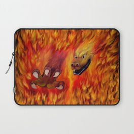 Red Dragon Claw in flames Laptop Sleeve