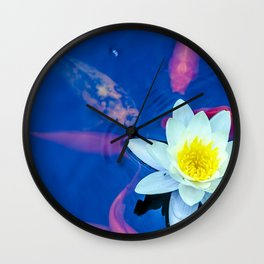 lily on the pond Wall Clock