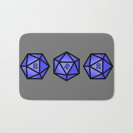 Blue d20 Bath Mat