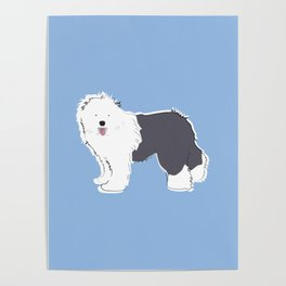 Old English Sheepdog Poster