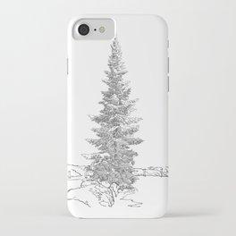 North American fir tree  iPhone Case