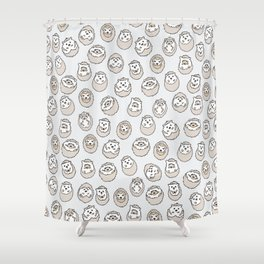 HEDGEHOG PATTERN BEIGE Shower Curtain