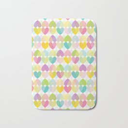 Colorful Sweet Candy Heart Pattern I Bath Mat