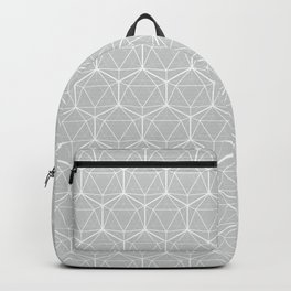 Icosahedron Soft Grey Backpack