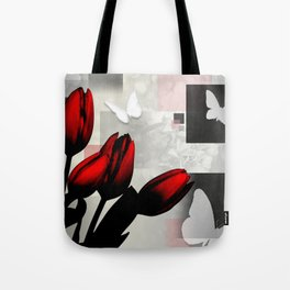 Assorted Squares, Flowers & Butterflies Tote Bag