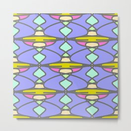 Seamless pattern with abstract elements Metal Print