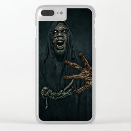Boogie Horror: Mirror Mask - Bloody Hand Clear iPhone Case