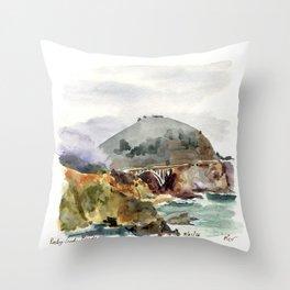 Rocky Creek Bridge Throw Pillow