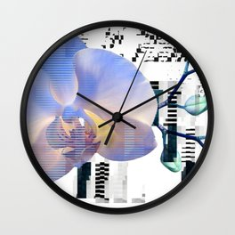 Orchid Glitch Wall Clock