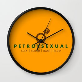 PETROLSEXUAL v7 HQvector Wall Clock