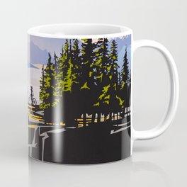 Retro travel BC poster Coffee Mug