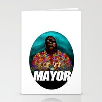 biggie smalls Stationery Cards featuring Biggie Smalls for Mayor by Tom Brodie-Browne
