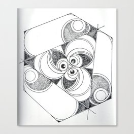 3 sided cycle Canvas Print