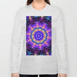 Mandala blue purple pink Long Sleeve T-shirt
