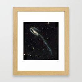 """Tadpole"" Colliding Galaxy Society6 Planet Prints Framed Art Print"
