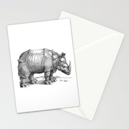 Durer- The rhinoceros. Stationery Cards