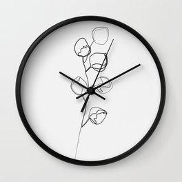 """""""Botanic Collection"""" - Eucalyptus Print Wall Clock"""
