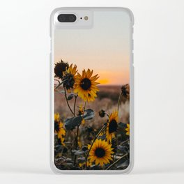 Suzy Sunset Clear iPhone Case