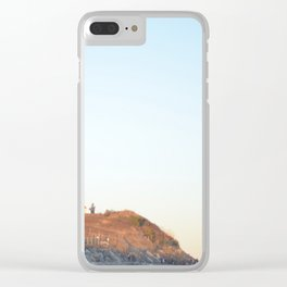 Sunset at Lighthouse in East Hampton Clear iPhone Case