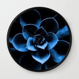 Dark Blue Succulent Plant #decor #society6 #homedecor Wall Clock