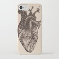 anatomical heart iPhone & iPod Cases featuring Anatomical Heart by Redmonks