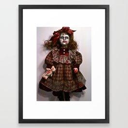Little Miss Sarah Splatter Framed Art Print