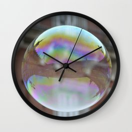 Bubbles in Madrid Wall Clock