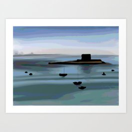 Fort View in Jersey Art Print