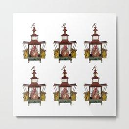 Multi Caged Heart Metal Print