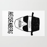 heisenberg Area & Throw Rugs featuring Heisenberg by WaXaVeJu