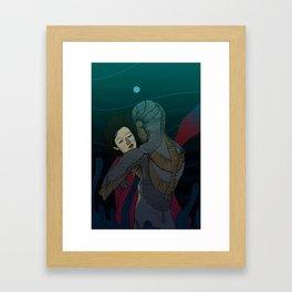 Fluid love Framed Art Print